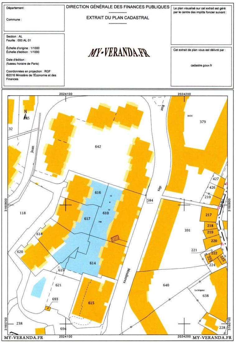 DP1 – Le Plan de situation - déclaration travaux Véranda