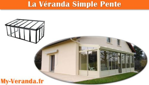 véranda simple pente